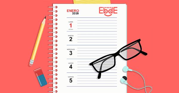Descarga tu agenda semanal 2018-2019 gratuito para imprimir.