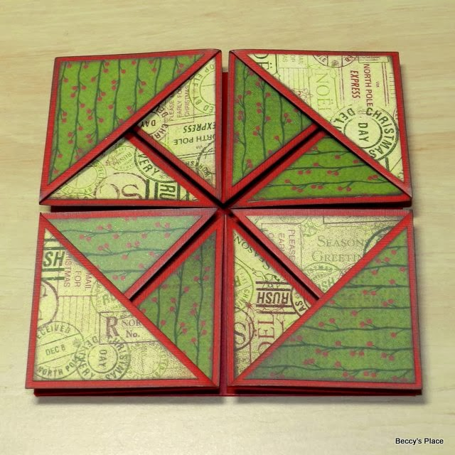 beccy s place tutorial serviette napkin fold cards
