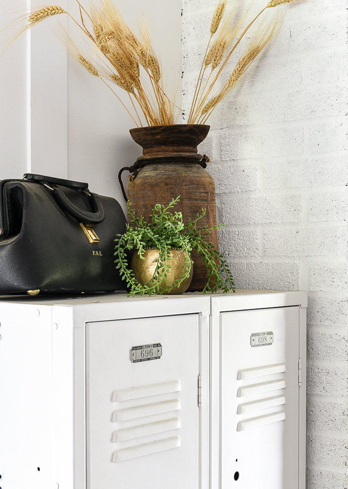 Fall foliage and brass for fall