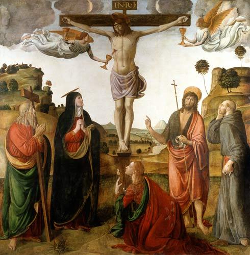 La crucifixion du Christ et Marie-Madeleine.