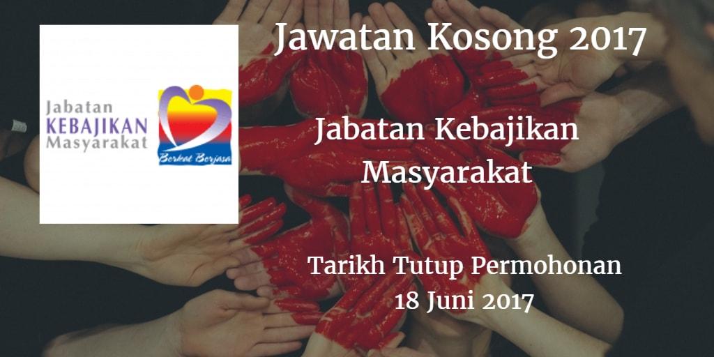 Jawatan Kosong JKM Sarawak 18 Juni 2017