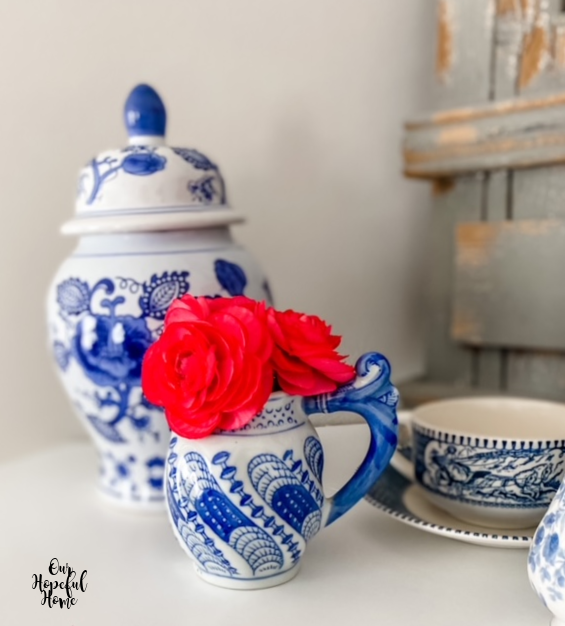ginger jar creamer tea cup saucer