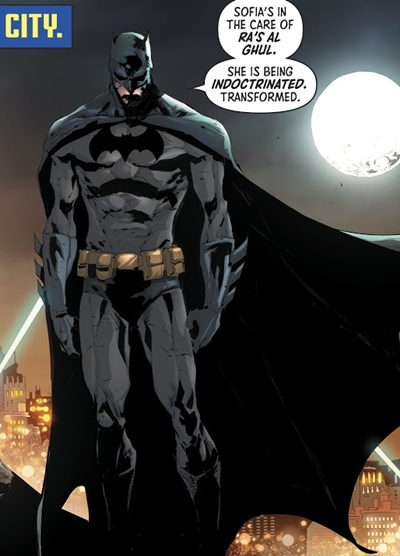 Batman traje en cómic en 2020