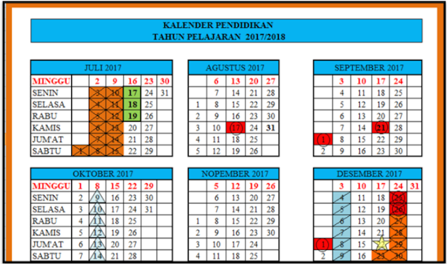 Kalender Pendidikan 2017/2018 Lengkap aancom88.com