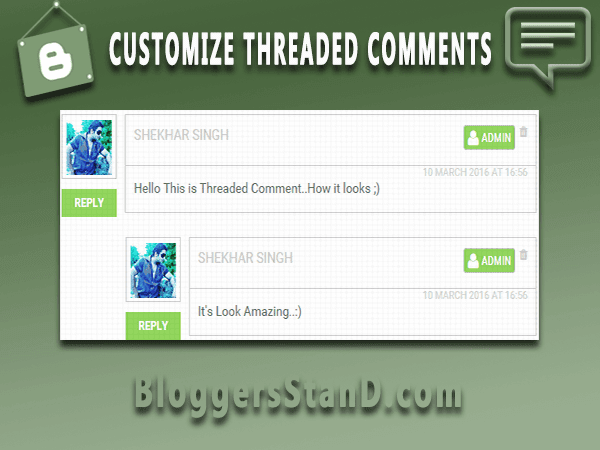 How to add custom threaded comments in blogger template