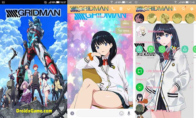 Download Tema Line Game SSSS GRIDMAN [ Rikka dan Akane ]