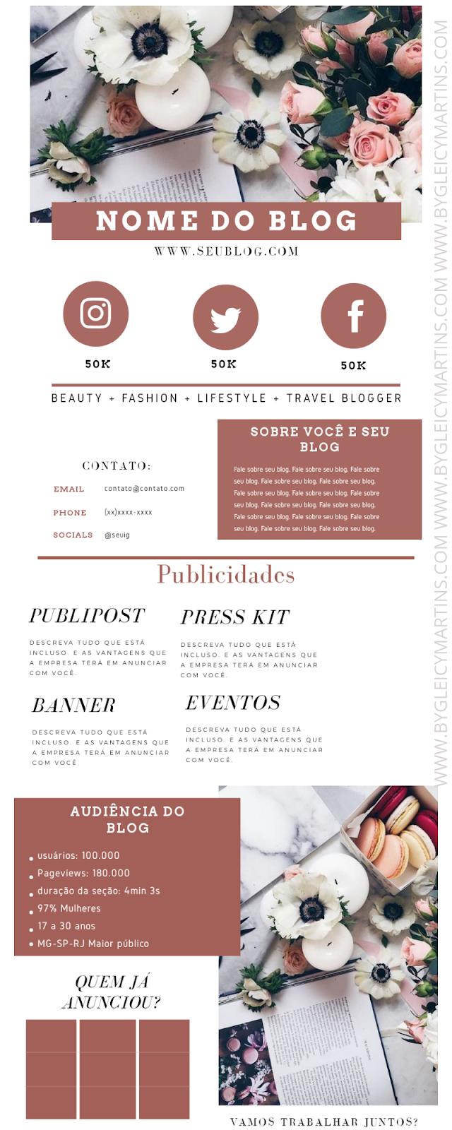 Como fazer mídia kit