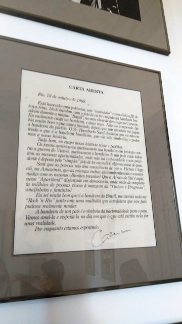 Carta Aberta escrita por Cazuza em 1988