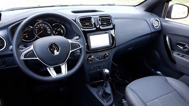 Novo Logan 1.6 Automático 2020 - teste - interior