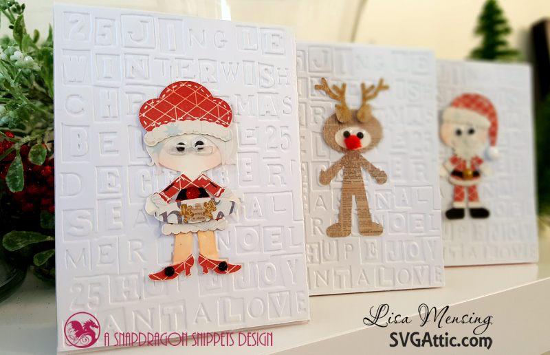 Christmas Cards featuring SVG Attic's Santa's Little Helpers