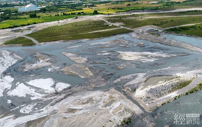 濁水溪河槽地下水補注工作推動場址水覆蓋現況(2021年)