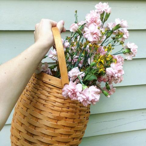 Closeup of basket