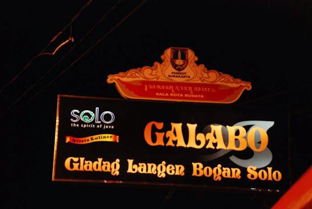 Galabo yakni sigkatan dari Gladak Langen Bogan Galabo Solo, Wisata Kuliner Malam di Kota Solo