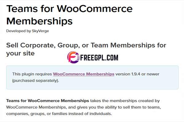Teams for WooCommerce Memberships Free Download
