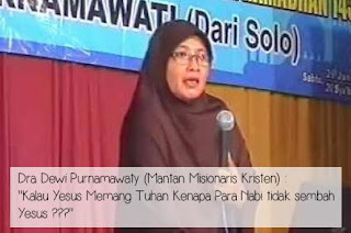 mantan aktifis Kristen ustadzah Dewi Purnamawati
