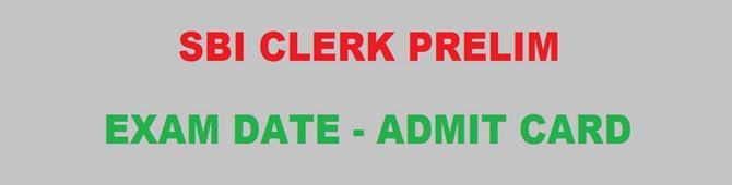 SBI Clerk Prelim Exam Date 2019