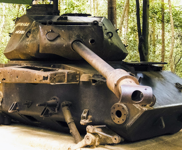 Tank at the Cu Chi Tunnels outside Ho Chi Minh City in Vietnam