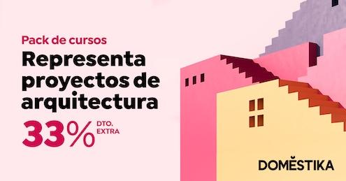 Pack de Cursos Arquitectura Domestika