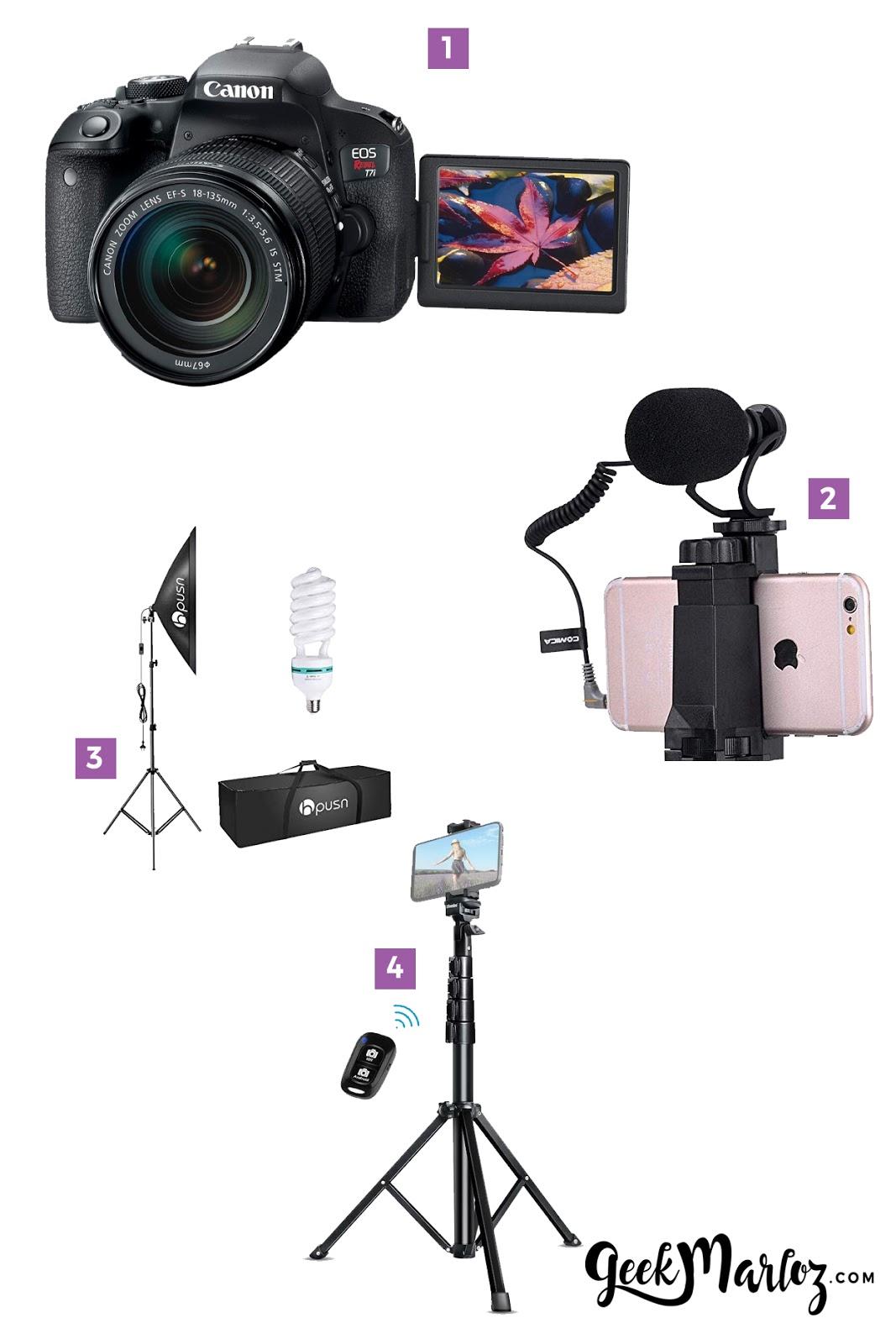 GeekMarloz | Cómo ser YouTuber: Equipo técnico básico para ser YouTuber