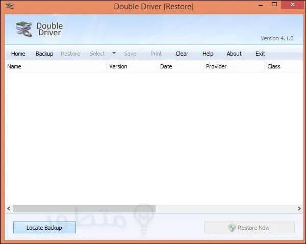 استعاده التعريفات باستخدام برنامج Double Driver