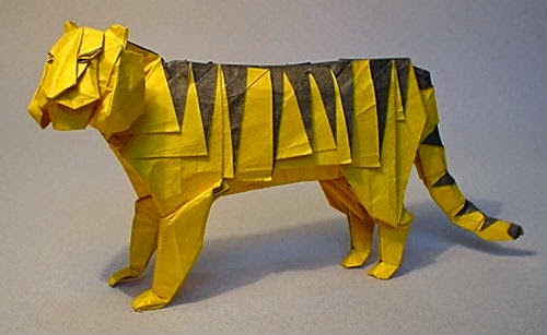 How to make a standing origami tiger: page 1 | 307x500