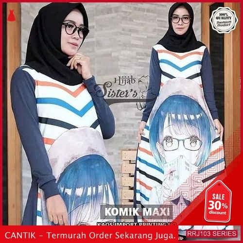 Jual RRJ103D121 Dress Komix Maxy Wanita Vg Terbaru Trendy BMGShop