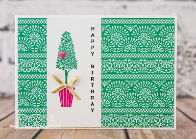 Bright and Cheerful Birthday Card Featuring The Vertical Greetings Stamp Set from Stampin' Up! UK.  Buy Stampin' Up! UK products here