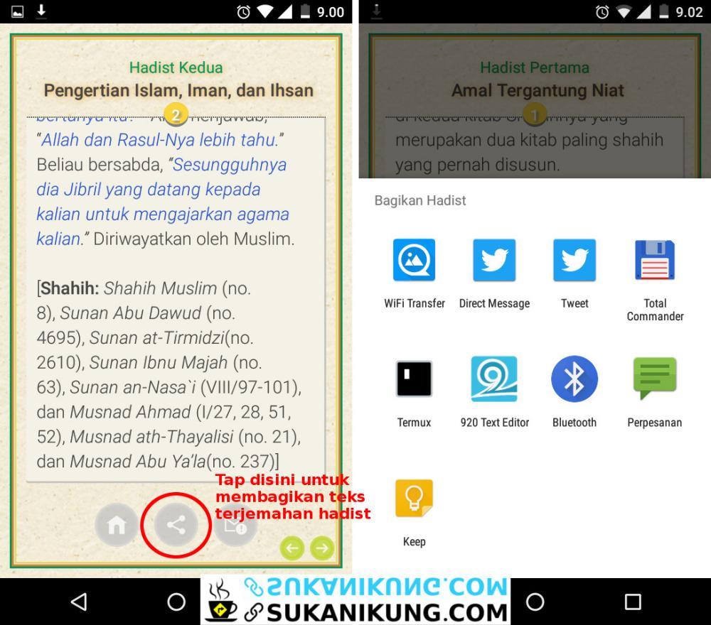 Kitab Hadist Arbain Nawawi Untuk Android - www.sukanikung.com