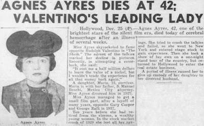 Agnes Ayres Death