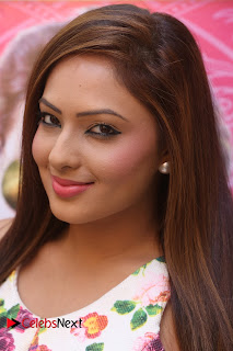 Nikesha Patel in Transparent Top and Lovely Floral Print Skirt HQ Pics