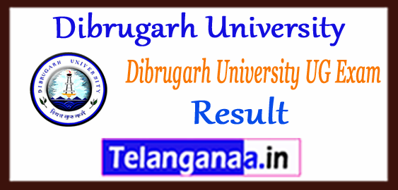 Dibrugarh University 2nd 4th 6th Semester UG Result 2018