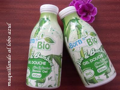 Gel de ducha de Áloe y Bamboo de Born to Bio