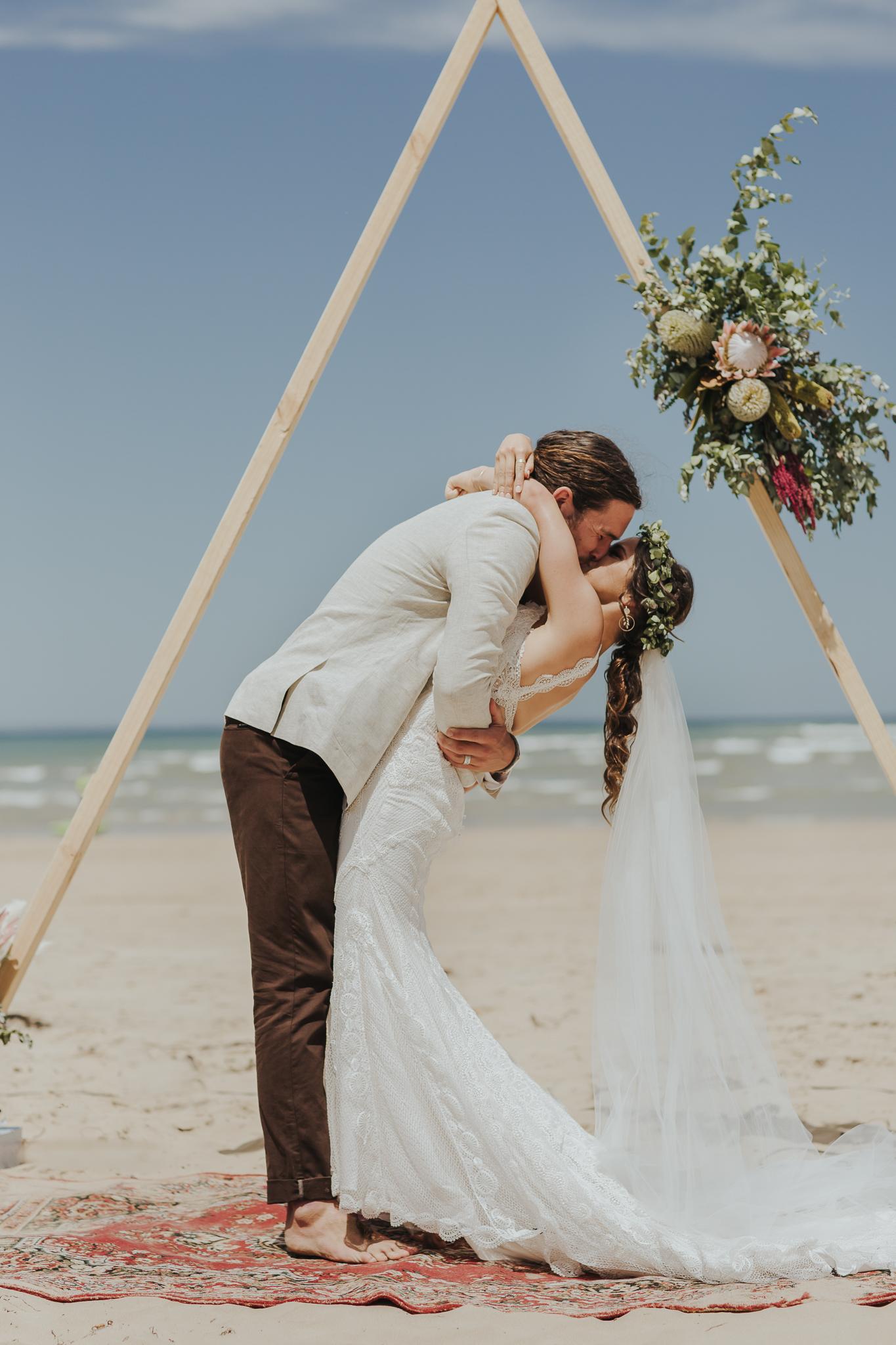 LOVE: PETE + LAUREN | BOHO RUSTIC BEACH WEDDING WALLINGTON BARN VIC
