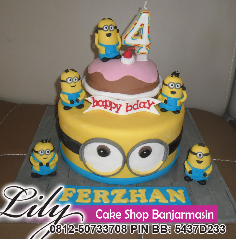 Lily Cake Shop Banjarmasin Kue Ultah Minionminion Cake