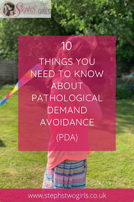 Image of girl in garden with text Ten things you need to know about Pathological Demand Avoidance (PDA)
