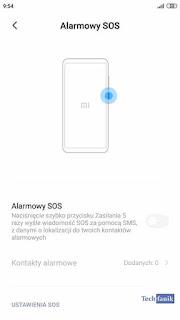 Xiaomi Redmi Note 4 MIUI 11 Alarmowy SOS