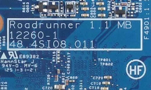 12260-1 48.4SI08.011 Roadrunner 1.1 Hp Probook 4540S Bios