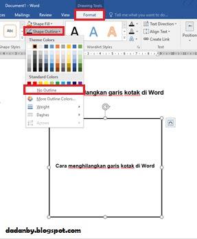 Cara Menghilangkan Kotak Text Box ~ Cara Membuat Cop Surat