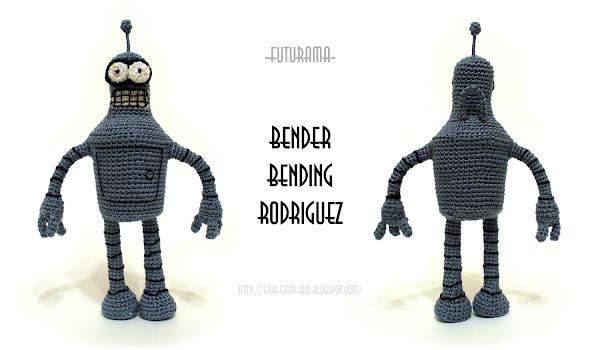 Бендер Родригез из Футурамы - игрушка вязанная крючком - схема