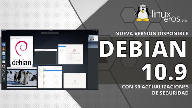 """Debian GNU/Linux 10.9 """"Buster"""", con 30 actualizaciones de seguridad"""