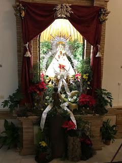 Virgen de la Cabeza de Marmolejo en Navidad