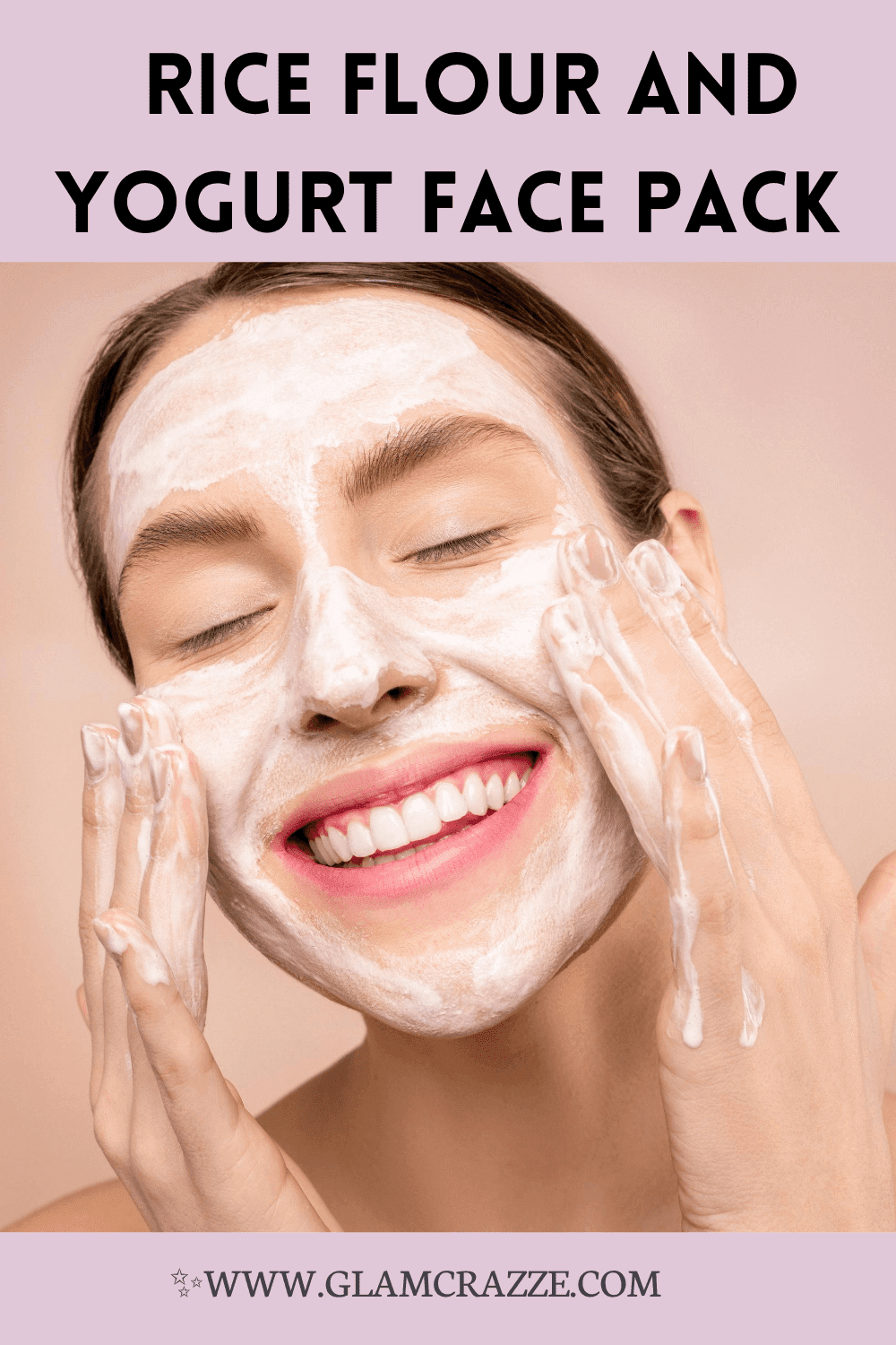 How to make rice flour and yogurt  face pack for bright skin