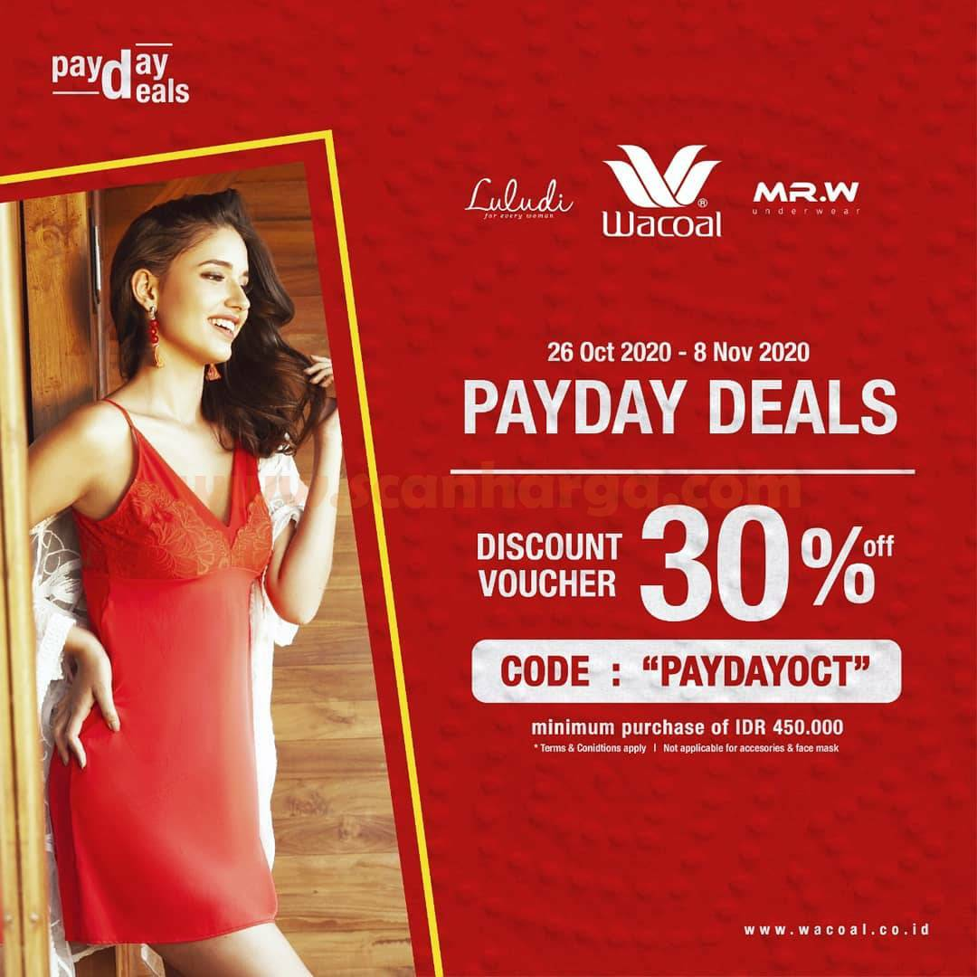 Wacoal Payday Deals Discount Voucher 30% Off