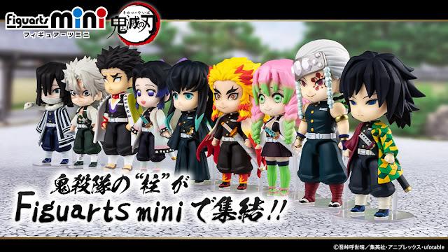 La línea Figuarts Mini de Kimetsu no Yaiba anuncia los 9 miembros del Hashira - Tamashii Nations