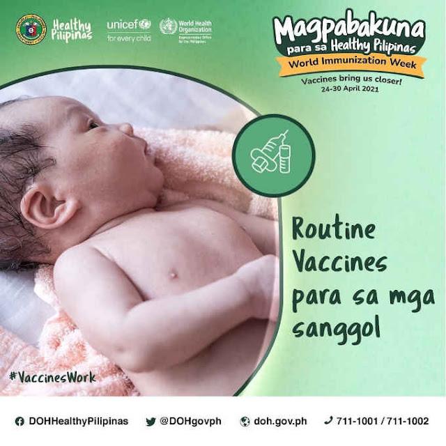 routine vaccines para sa mga sanggol