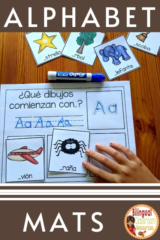 Sonidos Iniciales I Beginning Sounds Mats In Spanish