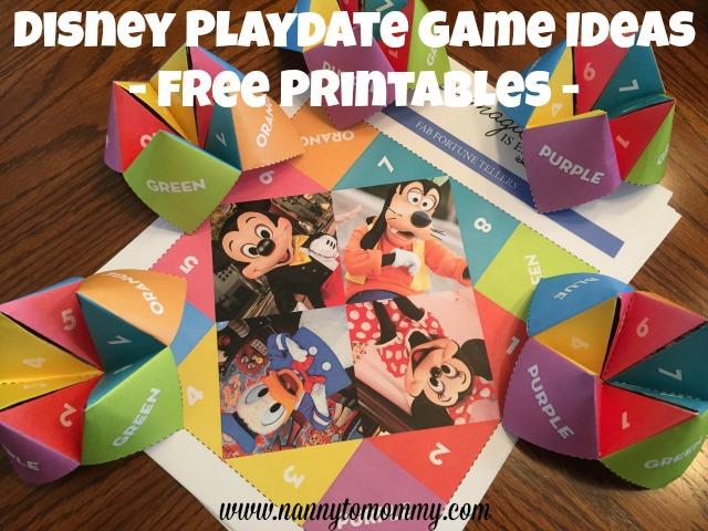 Disney Kids Preschool Playdate Games - Free Printables