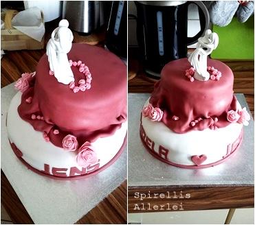 Spirellis Allerlei - Fondant Kuchen zur Hochzeit