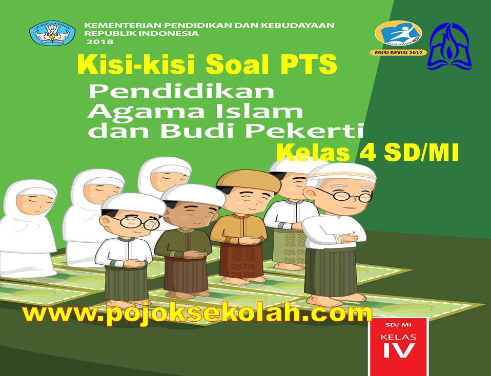 Kisi-kisi Soal PTS Mapel PAI & BP Kelas 4 SD