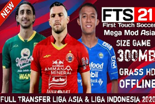 FTS 21 Mod Liga Asia & Liga Indonesia Full Transfer 2020/2021